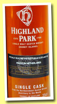 Highland Park 12 yo 1995/2007 (60%, OB for Maxxium Holland, Cask #1550, 35cl)