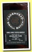 Highland Park 25 yo 1988/2013 (55.7%, Cadenhead, small batch, sherry butts, 1086 bottles)