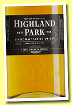 Highland Park 'Cask Strength Edition' (56%, OB for Sweden, 2013)