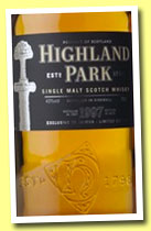 Highland Park 1997/2010 'Sword' (43%, OB, for Taiwan)
