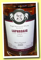 Laphroaig 2000/2013 (58.7%, Malts of Scotland, sherry hogshead, cask #MoS 13010, 243 bottles)