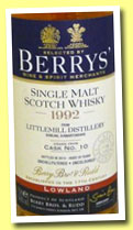 Littlemill 20 yo 1992/2013 (54.9%, Berry Bros & Rudd, cask #10)