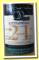 Littlemill 21 yo 1992/2013 (55.6%, Single Cask Collection, cask #20, 318 bottles)