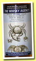 Littlemill 22 yo 1990/2012 (52.2%, The Whisky Agency, refill sherry butt, 719 bottles)