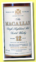 Macallan 12 yo (43%, OB, Gouin SA, France, cork, +/-1992)