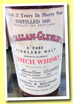 Macallan-Glenlivet 37 yo 1940 (34%, Gordon & MacPhail, Pinerolo, sherry wood, +/-1977)