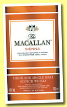 Macallan 'Sienna' (40%, OB, 1824 series, +/-2013)