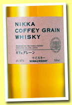 Nikka 'Coffey Grain' (45%, OB, Japan, +/-2013)