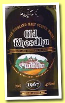 Old Rhosdhu 1967/1999 (40%, OB, Dumpy, plastic screw cap)
