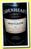 Springbank 31 yo 1963/1994 (52.3%, Cadenhead, Authentic Collection, sherry wood)