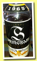 Springbank 1965 (46%, OB, tall black label, 75cl, +/-1985)