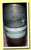 Springbank 16 yo 1996/2012 (50.5%, The Stillman's, sherry hogshead, 250 bottles)