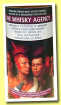 Teaninich 40 yo 1973/2013 (42%, The Whisky Agency, refill sherry hogshead, 213 bottles)