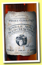 Malt 1 'Whisky Experience' (40% A.D. Rattray, single malt, +/-2012)