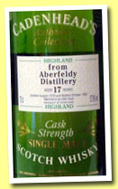 Aberfeldy 17 yo 1978/1995 (57.9%, Cadenhead's Authentic Collection)