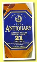The Antiquary 21 yo (43%, OB, Scotch blend, +/-2103)
