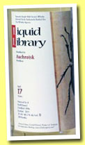 Auchroisk 17 yo 1996/2013 (48.2%, The Whisky Agency, Liquid Library, refill barrel, 208 bottles)