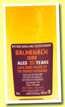 Balmenach 25 yo 1988/2013 (55.6%, Signatory for The Whisky Exchange, cask #1132, 187 bottles)