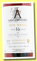 Ben Nevis 16 yo 1997 (55%, Abbey Whisky, The Rare Casks, sherry hogshead, 96 bottles, +/-2014)