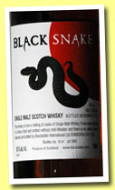 Black Snake 'VAT No1 - First Venom' (59.1%, Blackadder, 390 bottles, 2012)