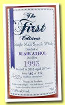 Blair Athol 20 yo 1993/2013 (57.8%, The First Editions, sherry butt, 512 bottles)