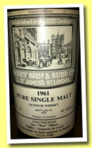 Bowmore (?) 1961/1973 (43%, Berry Bros & Rudd for Best Milano)