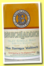 Bruichladdich 1989/2006 'The Tonga Valinch' (57%, OB, American oak, rum ACEd, cask #1880, 330 bottles)