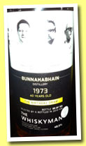 Bunnahabhain 1973/2013 'The Birthday Dram' (48.5%, The Whiskyman, 155 bottles)