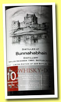 Bunnahabhain 1990/2013 (50.9%, Whisky-Doris, sherry butt, 228 bottles)