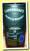 Caol Ila 33 yo 1980/2013 (58.2%, Cadenhead, Authentic Collection, bourbon hogshead, 222 bottles)