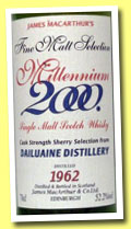 Dailuaine 1962/2000 (52.2%, James MacArthur, Millennium, sherry)