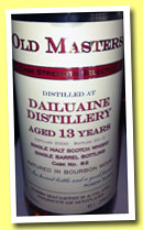 Dailuaine 13 yo 2000/2013 (61.3%, James MacArthur, Old Masters, bourbon, cask #82)