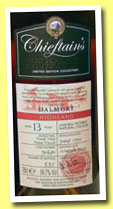 Dalmore 1996/2010 (56.7%, Chieftain's, pinot noir finish, cask #91671, 335 bottles)
