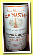 Girvan 1989/2006 (58%, James MacArthur, Old Masters, cask #110632)