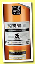 Girvan 25 yo 'Patent Still' (42%, OB, Launch Edition, 2013)