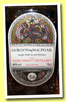 Glen Grant 56 yo 1955 (40%, Gordon & MacPhail, Book of Kells, decanter, +/-2011)