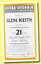 Glen Keith 21 yo 1992/2013 (49.5%, Tasting Fellows, barrel, cask #120610, 180 bottles)