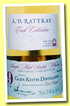 Glen Keith 19 yo 1993/2012 (55.4%, A.D. Rattray, bourbon hogshead, cask #97114, 288 bottles)