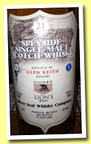 Glen Keith 21 yo 1992/2013 (52.1%, Silver Seal and Lion's Whisky, 115 bottles)