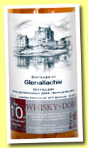 Glenallachie 8 yo 2004/2013 (53.5%, Whisky-Doris, 10th Anniversary, sherry butt, 377 bottles)