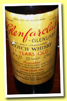 Glenfarclas-Glenlivet 17 yo (91 US proof, US import, +/-1940)