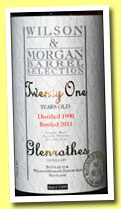 Glenrothes 21 yo 1990/2011 (60.1%, Wilson & Morgan, for Taiwan, sherry butt, cask #12899)