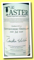 Glentauchers 34 yo 1975/2010 (43.7%, The Taster, Scotch Malt Sales, Japan, cask #8883, 158 bottles)
