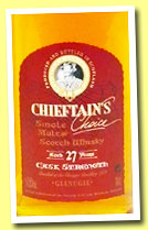 Glenugie 27 yo 1973/2000 (54.2%, Chieftain's Choice, bourbon barrel, casks #6543/6547, 317 bottles)