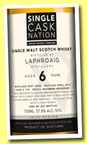 Laphroaig 6 yo 2006/2013 (57.8%, Single Cask Nation, refill hogshead, cask #119, 269 bottles)