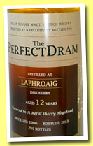 Laphroaig 12 yo 2000/2013 (51.7%, The Perfect Dram, refill sherry)