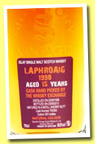 Laphroaig 15 yo 1998/2013 (60.8%, Signatory for The Whisky Exchange, refill sherry, cask #700393, 551 bottles)