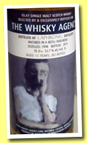 Laphroaig 15 yo 1998/2013 (52.7%, The Whisky Agency, refill hogshead, 261 bottles)