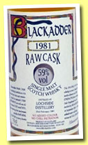 Lochside 1981/2001 (59%, Blackadder, cask #614, 314 bottles)