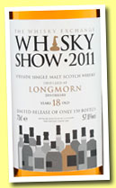 Longmorn 18 yo (57.8%, The Whisky Exchange, Whisky Show 2011, 150 bottles)